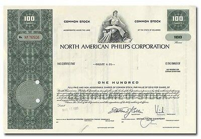 North American Philips Corporation Stock Certificate