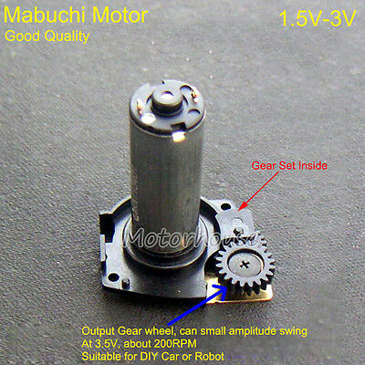 DC 1.5V 3V 160RPM Good Quality Mabuchi Motor Gearbox Reduction Gear Robot DIY