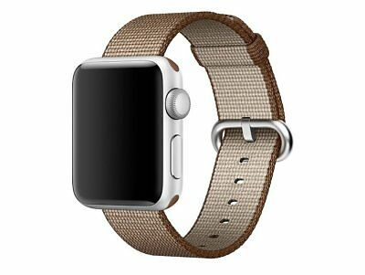Genuine Apple MNK42ZM/A 38mm watch strap Toasted Coffee/Caramel Woven Nylon