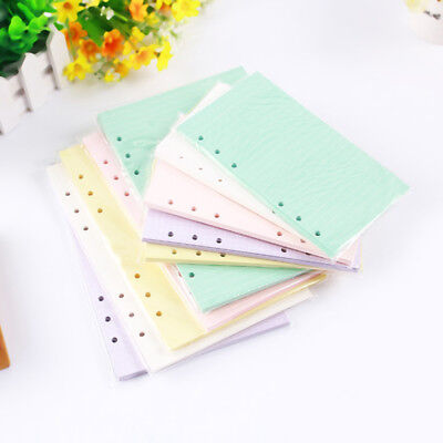 40Sheets A5/A6 Filler Papers Loose-leaf Notebook 6Hole Office School Supply Prop