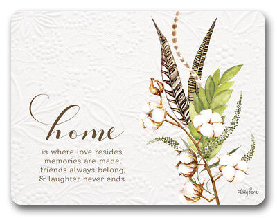 Country Kitchen LOVE HOME Kelly Lane Cork Backed Placemats AND Coasters Set 6...