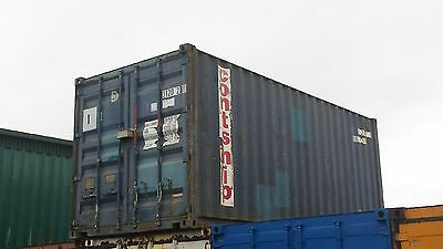 20ft x8ft Shipping Container Blue Lock Box