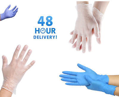 Powder Free Disposable Gloves Latex Vinyl or Nitrile Multi Purpose