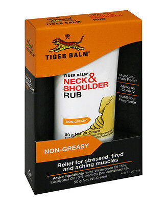 Tiger Balm Neck & Shoulder Rub 50g Cool for Stressed Aching Stiff Tired Muscle
