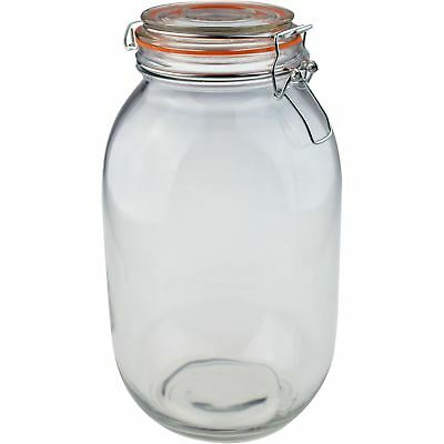 Glass Storage / Food Preserve Preserving Clip Top Jar - 3000ml - x1