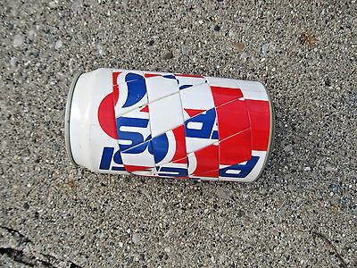 Pepsi Coin Bank with Puzzle Red White and Blue
