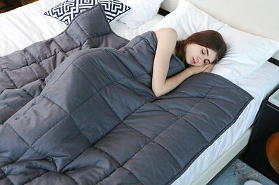 Weighted Blanket by YnM for Adults(48''x72'')(15 lbs for 140 lbs individual)