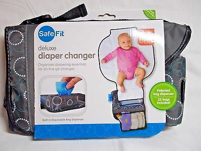 SafeFit Deluxe Portable Diaper Changer New In Pkg.