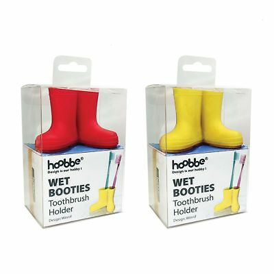 Hoobbe Welly Boots Toothbrush Holder Wellies Silicone Bathroom Accessory