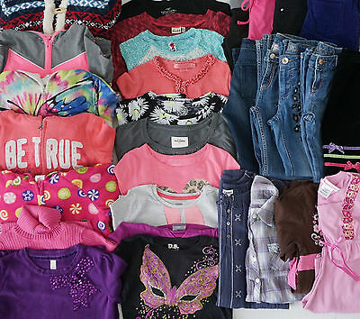 Girls Size 10 Fall Clothes Lot of 31 Items School Clothes L2-17