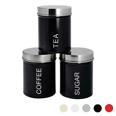 METAL TEA COFFEE Sugar Canisters Kitchen Storage Canister ...
