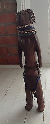 1980's African Wooden Doll 14 inches tall