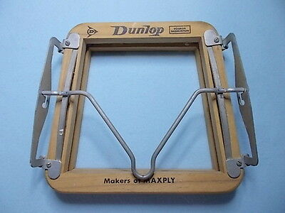 Vintage Dunlop / Maxply Wooden Racquet Holder Could be Photo Frame/Clock Project