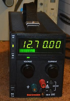 Sorensen XTS 15-4 Regulated DC Power Supply w/Current Limiting 0-15 Volts 4 Amps