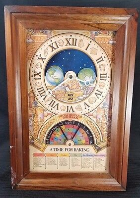 1979 Nestle Toll House 50th Anniversary Celestial Bakers Clock Tested Works