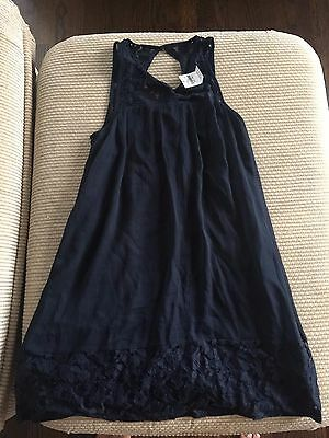 Abercrombie Kids navy blue dress size L 14 new with tags