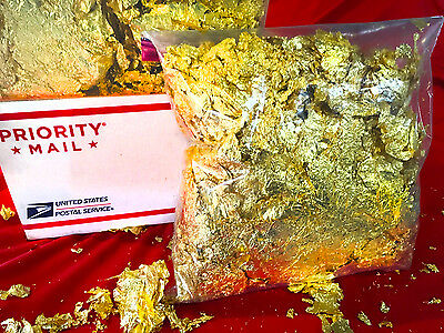 1 Full POUND of Premium Grade Gold Leaf Flakes (Best on eBay!) Ships FREE