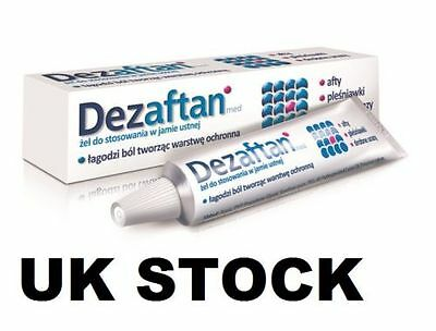 DEZAFTAN MED Gel 8g Oral Thrush Ulcer Aphthae Stomatitis Cuts