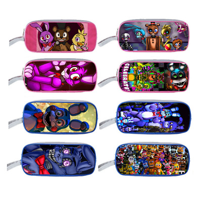 FNAF Five Nights at Freddy's Double-deck Bag Student School Pencil Case New