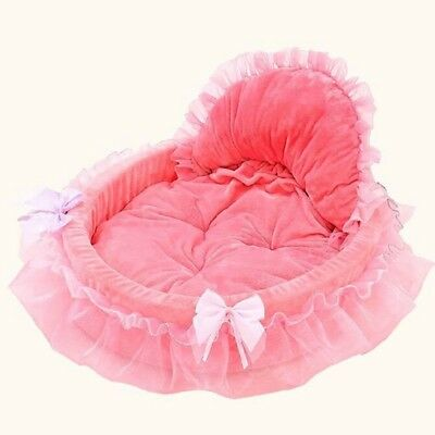 Pet Dog Bed Home Puppy Lace Bowknot Nest Sofa Cat Comfort Sleeping Cushion Mat