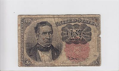 United States 10 Cents Fractional Currency Note, Fifth Issue 1874-1876 FR 1265