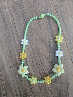 NWT Gymboree Egg Hunt Yellow Flower Bead Necklace