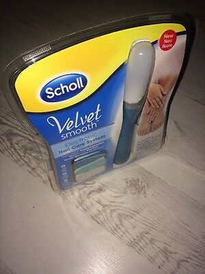 Woman's Scholl Velvet Smooth Electronic Nail Care System.