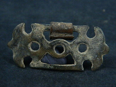 Ancient Bronze Open Work Pendant Bactrian 300 BC  #B169