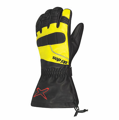 2018 Ski-Doo Men's X-Team leather gloves - Sunburst Yellow
