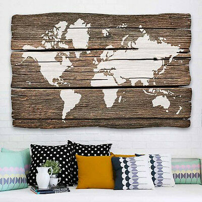 World Map Wall Art Stencil - DIY Home Decor - Reusable Stencils