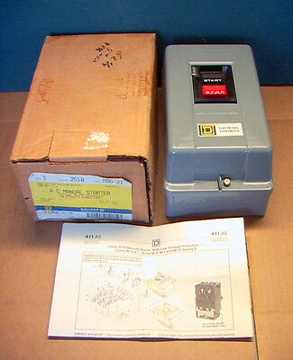 SQUARE D AC manual starter class 2510 type MBG-21 single phase 2-pole 120/60