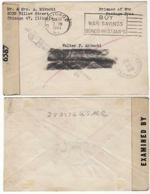 Returned WWII Marine Mail - Captured on Corregidor - Died in an Osaka POW Camp