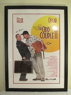 """1998 Paramount Theater poster """"The Odd Couple II"""" - signed by Lemmon and Matthau"""