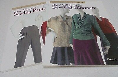 Easy Guide To Sewing Pants and Blouses L MacIntyre-Connie Long 2 x Sewing Books