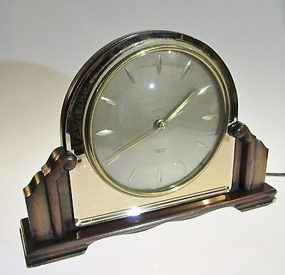 Vintage Smiths Smith Sectric Electric Mantel (mantle) Clock Guilloche Dial Art D