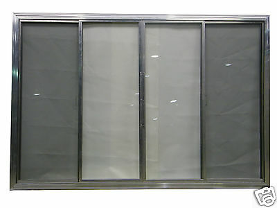 Concession Window W/ Glass and Screen 4 FOOT