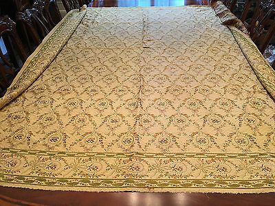 A Large 19th C French Silk Brocade Textile Panel.