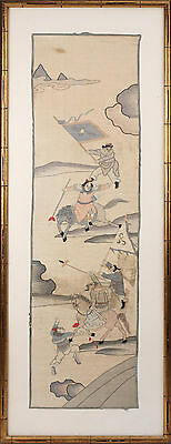 A  Rare and Large Chinese Qing Dynasty Kesi Panel, Framed.