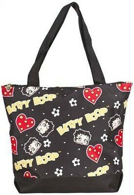 J. Garden Black Betty Boop Print Extra Large Tote Bag (17-inch)