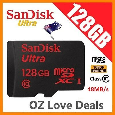 SanDisk 128 GB Ultra Micro SD SDXC 48MB/s UHS-1 Class 10 Memory Card Full HD