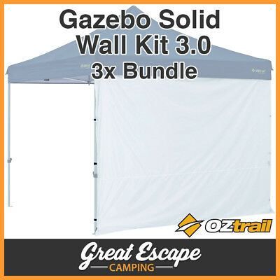 3 x OZTRAIL GAZEBO SOLID SIDE WALL FOR 3x3m DELUXE, STANDARD GAZEBO Not Included