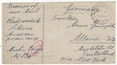 WWI German POW Mail from the American Prison Camp at Krasnaya-Retchka, Siberia