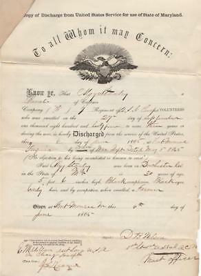 Freed Slave's Civil War Army Paperwork - 7th U.S. Colored Infantry