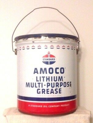 STANDARD ~ AMOCO ~ LITHIUM MULTI-PURPOSE GREASE CAN ~ EMPTY and  CLEAN