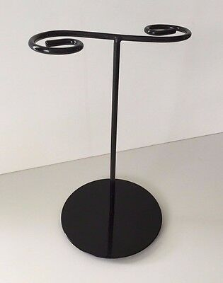Black Wire Scroll Metal Necklace Display Stand Countertop Jewelry Displays