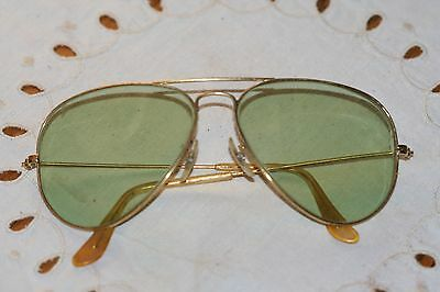 Vintage U.S made Bausch & Lomb Ray Ban 58 14 Wire Aviator Sunglasses