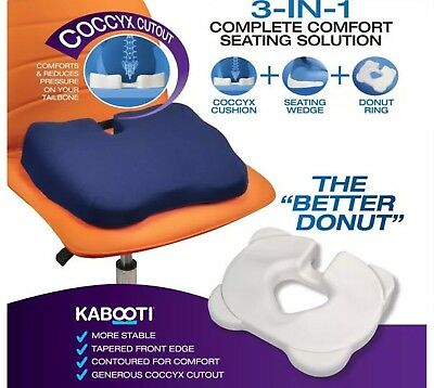 Kabooti Contour Donut Cushion For Coccyx And Back Support