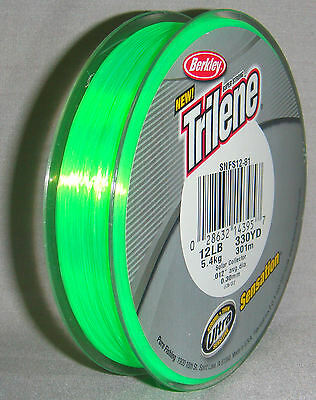 Berkley Trilene Sensation 12lb x 300m Solar Mono Line *New in Packaging*