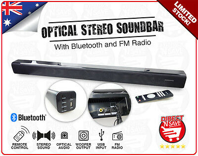 Soundbar Wireless Bluetooth Speaker FM Radio Audio Optical Stereo SPK-SB120