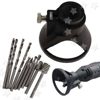 For Rotary Multi Tool Cutting Guide Attachment HSS Router Drill Bits